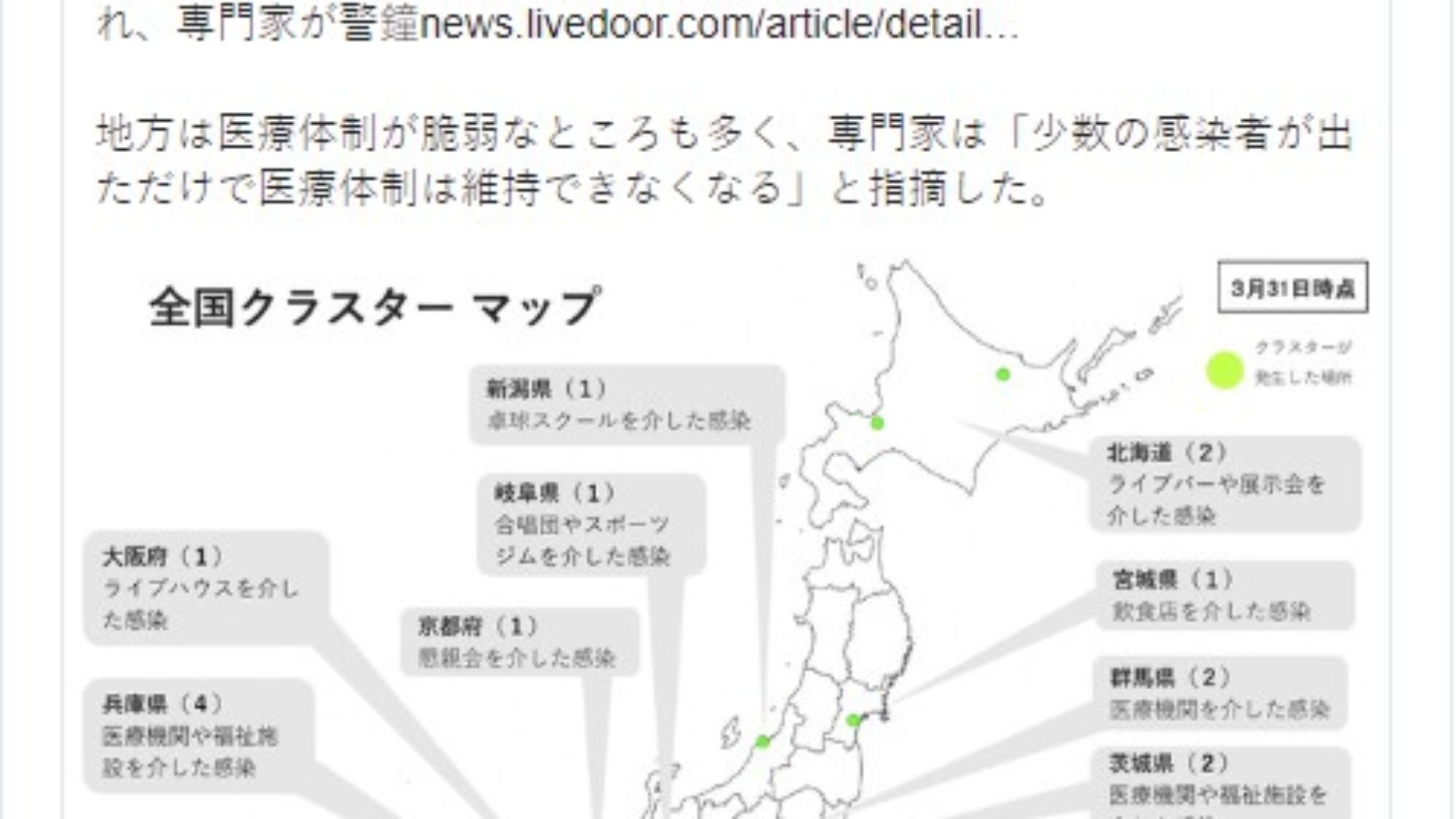 推特上出現日本此刻熱門關鍵字 #東京脫出 ,日本全國上下民心安定與否將成為一大挑戰