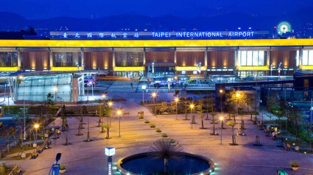 照片翻攝台北松山機場官網第一行廈外觀夜景