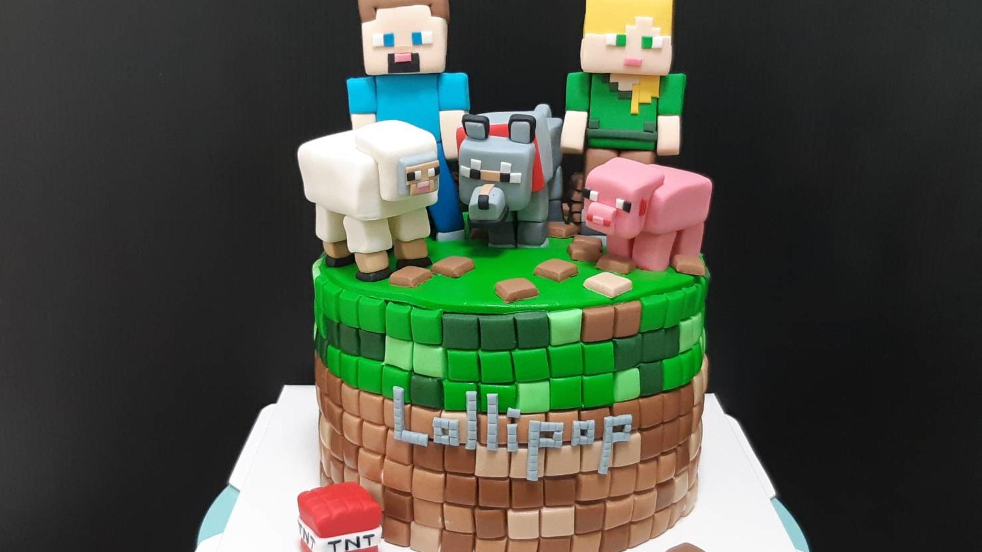 翻攝丹尼爾幸福廚房新品電玩翻糖蛋糕MINECRAFT