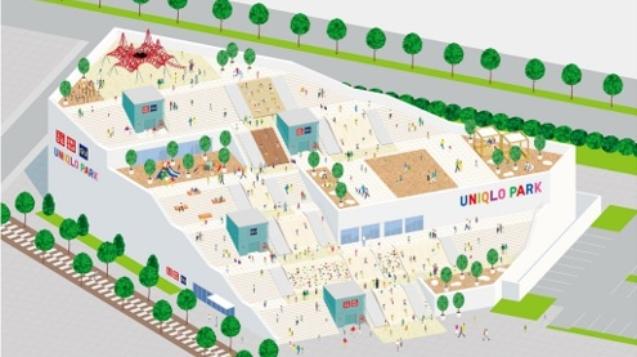 UNIQLO在橫濱開設千坪的全新景點「UNIQLO PARK」。(圖/翻攝自UNIQLO官網)
