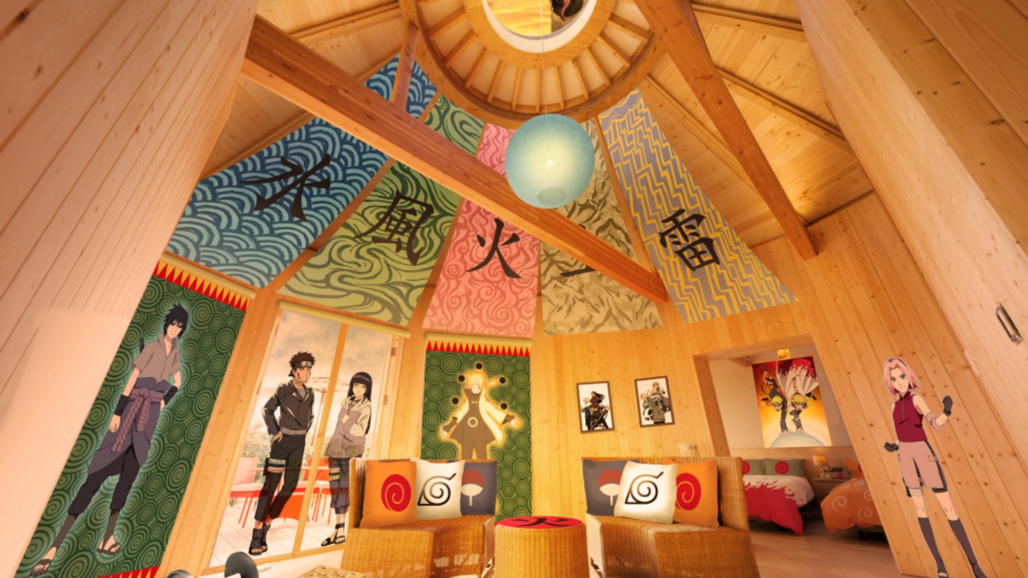 """以""""火影忍者""""為主題的新建築"""" Hokage no villa""""將於6月1日在Nizigen Nomori的豪華帳篷設施"""" GRAND CHARIOT Hokuto Shichisei 135°""""開幕。 隨著開幕,"""" Hokage no Villa""""的預訂已從5月25日星期一開始。"""