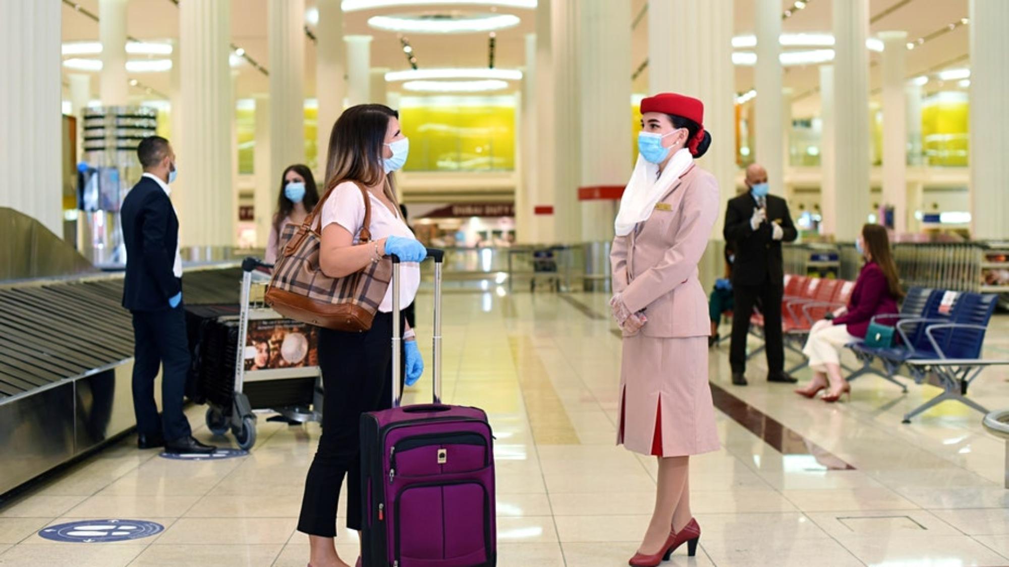 如果您在旅行時被確診新冠肺炎,阿聯酋航空將為您提供費用©阿聯酋航空