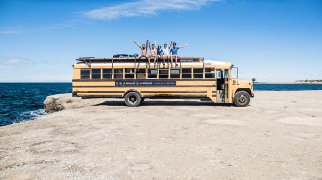該公司已在美國的時尚巴士上量身定制了旅行團©MyBusHotel