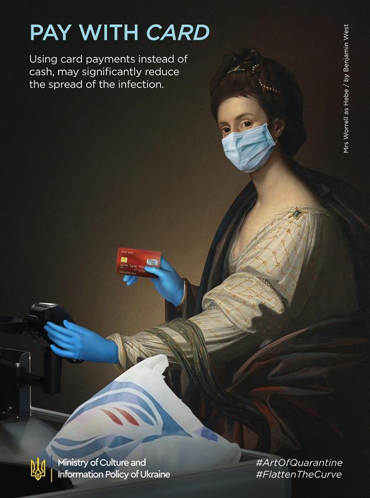 多圖/世界名畫防疫中!烏克蘭政府推「防疫藝術」