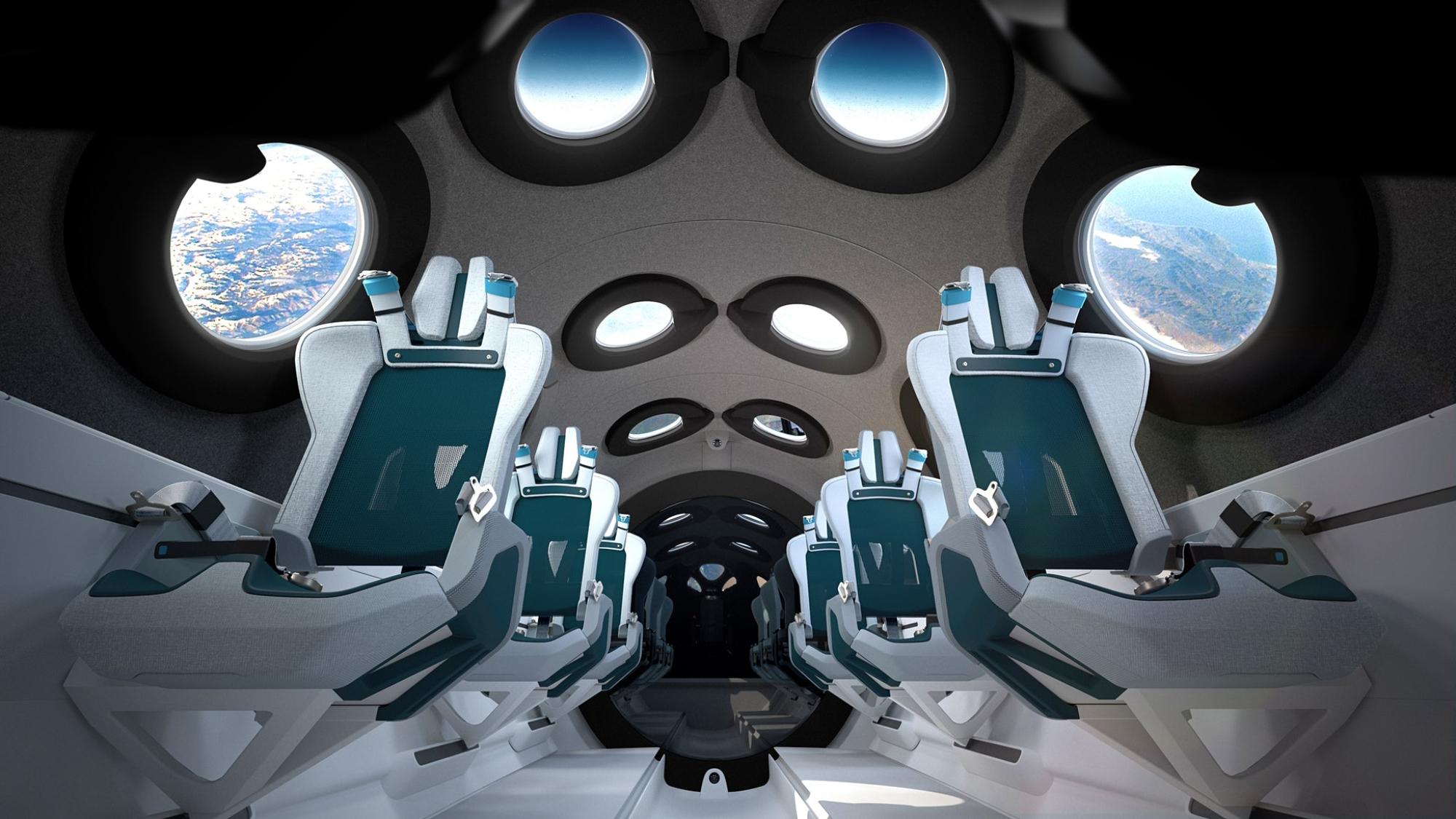 維珍銀河揭幕了VSS Unity客艙的設計©維珍銀河