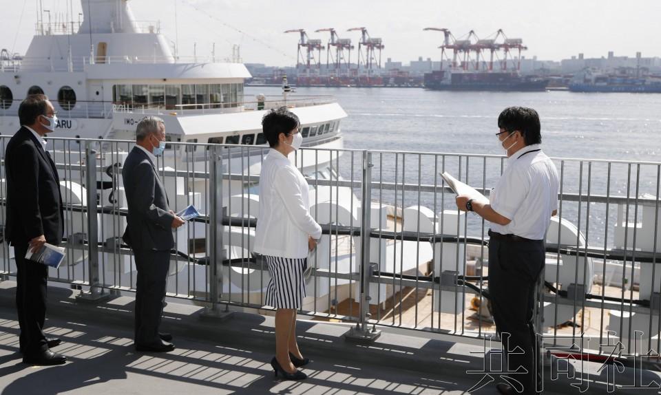 東京國際郵輪碼頭竣工 因疫情場面冷清