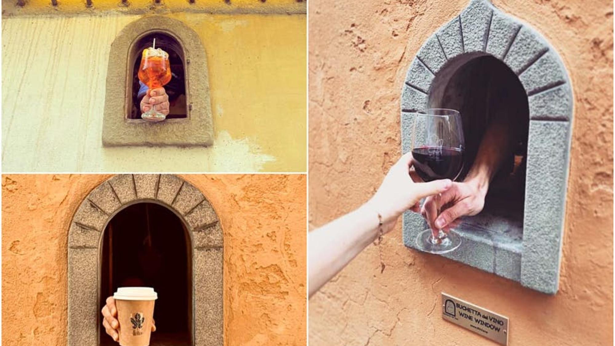 意大利恢復了其17世紀的葡萄酒窗©Buchette del Vino