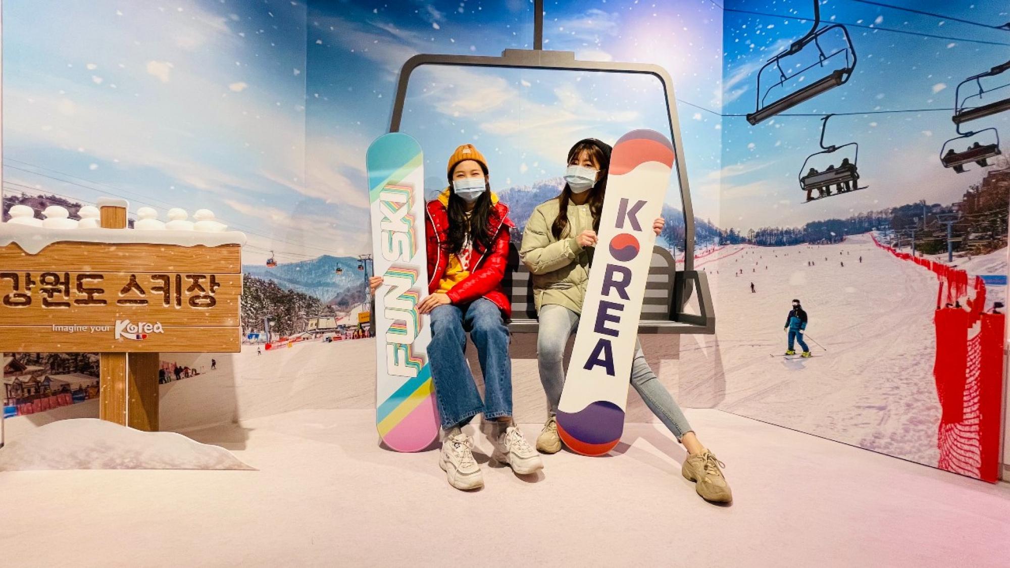 江原道滑雪場情境拍照區_纜車 (1)